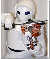 robot con violin