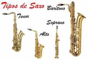tipos saxofón