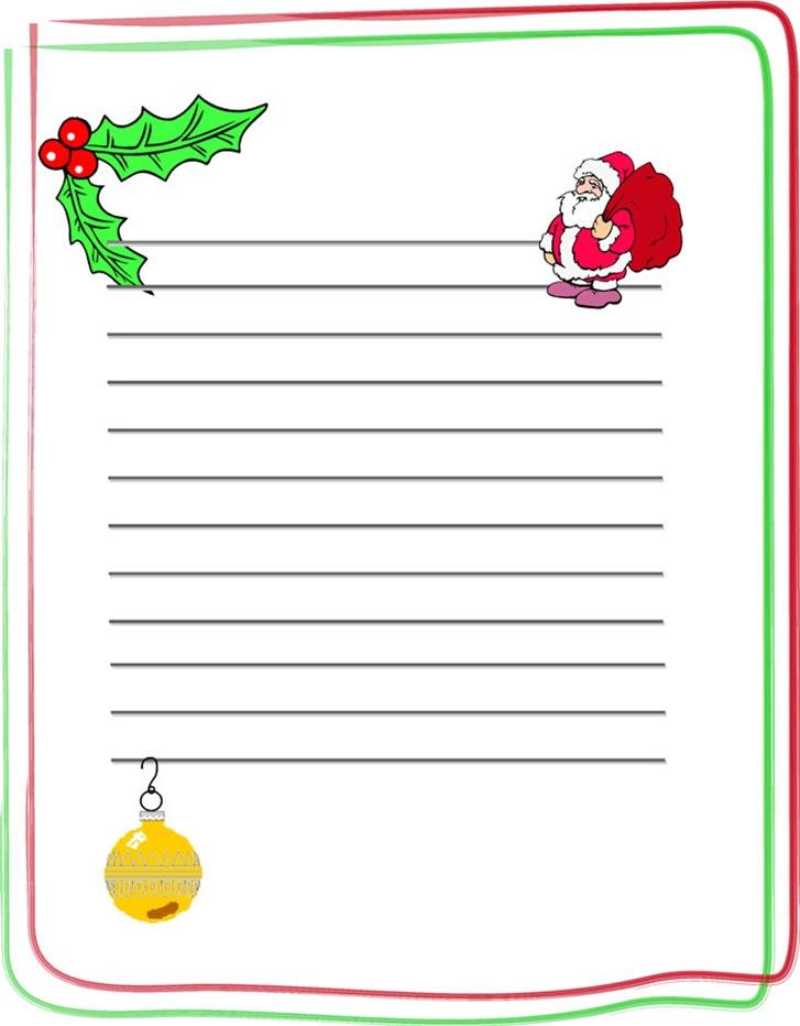 Carta Para Escribir A Pap   Noel
