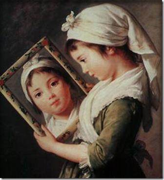 niña con espejo