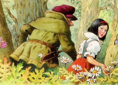 Blancanieves y los 7 enanitos hnos grimm 1 parte for Lo espejo 0450 el bosque