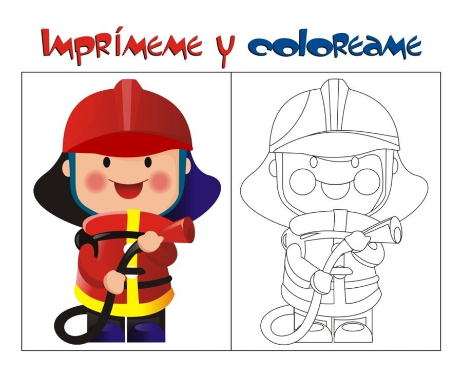 Dibujos Infantiles De Bomberos Coloreados: Raimundo, El Bombero Más Valiente Del Mundo