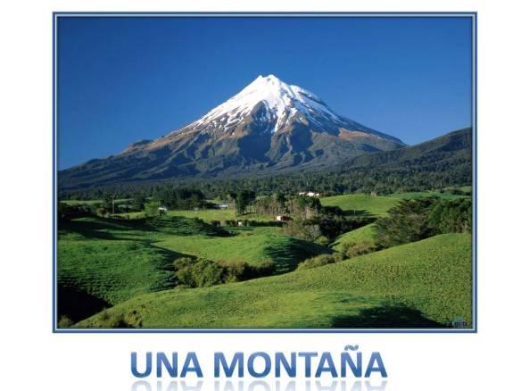 una montaña