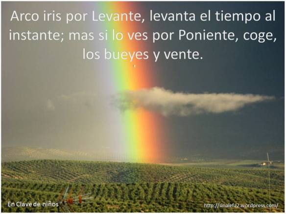 Arco iris por Levante ...