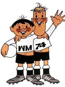 """Maskottchen Fußball-WM 1974: """"Tip"""" und Tap"""""""