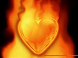 corazón fuego