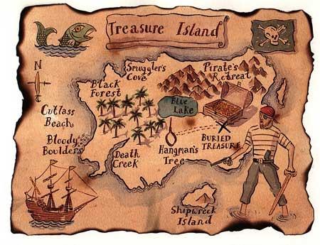 Mapa Del Tesoro En Clave De Nios