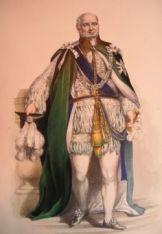 Augusto Federico de Hannover con la insignia de caballero de la Orden del Cardo, pintura de G.E. Madeley.